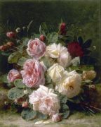 Still Life of Roses by Jean-Baptiste Robie