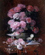 Bouquet of Flowers with Elegant Objects 1899