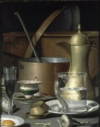 A Kitchen Still Life of Water, Glasses, a Fried Egg, etc. by Filippo Balbi