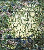 Stained Glass with Clematis c.1900