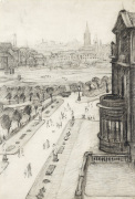 A View From The Window Of The Royal Technical College, Looking Towards Manchester, 1924 by L S Lowry