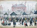 Market Scene Northern Town 1939