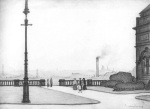 The Terrace, Peel Park, Salford, 1927 by L S Lowry