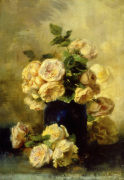 A Still Life with White and Yellow Roses