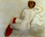 Nudo con le Calze Rosse 1879