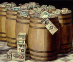 Barrels of Money by Victor Dubreuil