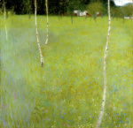 Farmhouse with Birch Trees - Young Birch Trees 1900