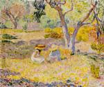 Fillettes sous les Oliviers 1906