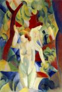 Woman Bathing, 1913 by August Macke