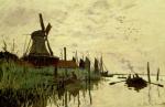 Moulin a Vent et Bateaux a Zaandam 1872
