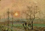 Soleil Couchant, c.1872 by Camille Pissarro