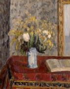 Le Vase de Fleurs Tulipes et Genets1900