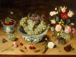 A Still Life of Fruit and Flowers