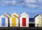 Colourful Beach Huts by Kim Sayer