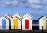 Colourful Beach Huts by Kim Sayer