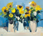 Sunflower Still Life by James Fullarton