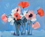Pink Poppies Still Life