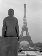 Female Nude Statue with Eiffel Tower 1963