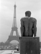 Male Nude Statue with Eiffel Tower 1963
