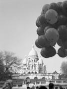 Balloons over Sacre Coeur Paris 1963