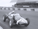 Stirling Moss cornering, Silverstone by Anonymous