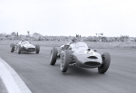 Graham Hill in pursuit Silverstone