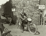 HF Harris on his AJS Isle of Man