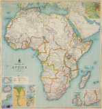 Political Map of Africa 1904