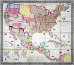 A New Map of Our Country Present and Prospective USA 1855