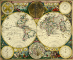 Atlas Maritimus World Map 1698