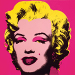 Marilyn Monroe (Marilyn), 1967 (hot pink) by Andy Warhol