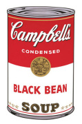 Campbell's Soup I 1968 (black bean)