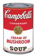 Campbell's Soup I 1968 (cream of mushroom)