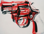 Gun c.1981-82 (black and red on white)