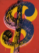 Dollar Sign 1981 (black & yellow on red)