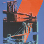 Brooklyn Bridge 1983 (pink red blue)