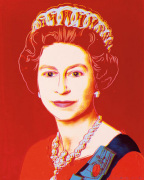 Reigning Queens: Queen Elizabeth II of the United Kingdom 1985 (light outline)