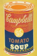 Colored Campbell's Soup Can 1965 (yellow & blue)