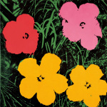 Flowers c.1964 (1 red 1 pink 2 yellow)