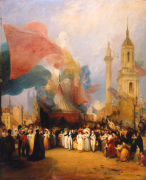 The Royal Procession at the Opening of the New London Bridge 1 August 1831