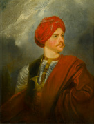 Portrait of a Man in Oriental Costume (presented as a self portrait by Giovanni Belzoni)