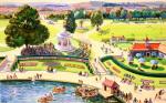 The British Scene - City park scene 1939-1946