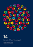 International Year of Crystallography 2014 #1 Blue