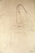 Seated Nude her Face Covered by her Hair 1907