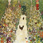 Garden Path with Chickens 1916