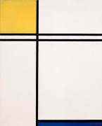 Composition with Yellow Blue and Double Line 1933