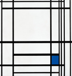 Composition of Lines and Colour III; Composition with Blue 1937