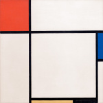 Composition with Red Blue Yellow and Black 1929