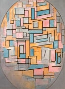 Composition in Oval with Coloured Surfaces 2 1914