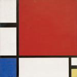 Composition in Red Blue and Yellow 1930